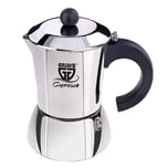 GRÄWE Espressokocher silberfarben 6 Tassen