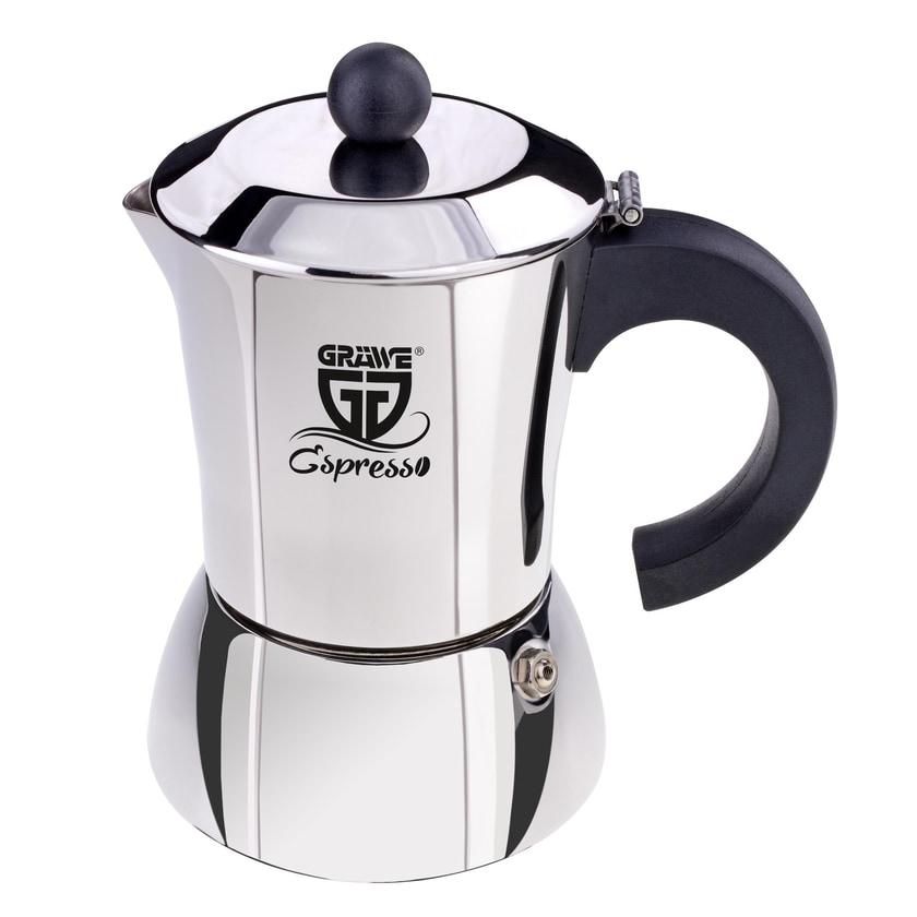 GRÄWE Espressokocher silberfarben