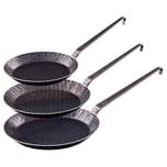 Gräwe Hakenstiel Pfannenset Iron03 schwarz 3-teilig