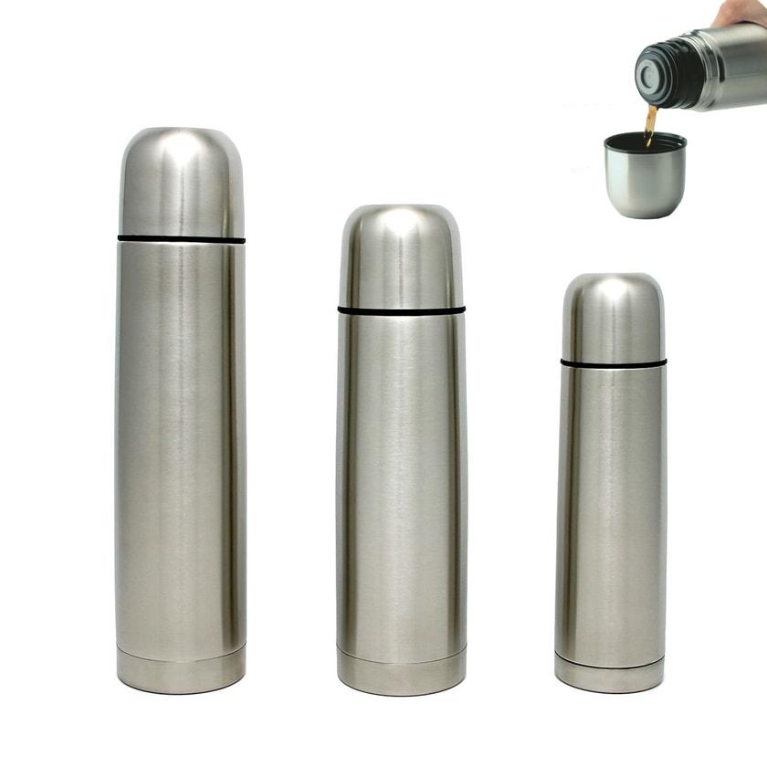 GRÄWE Isolierflasche Klick-Klack THERMOHOME silber