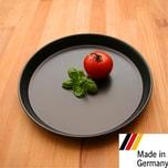 GRÄWE Pizzablech unbeschichtet schwarz 1