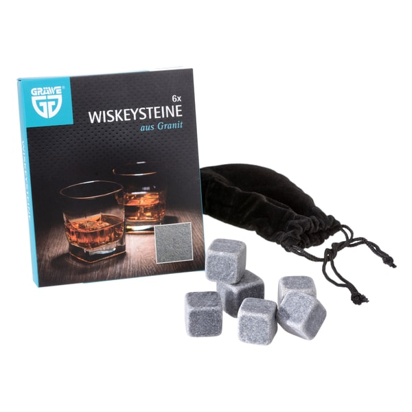 GRÄWE Whiskeysteine grau 6er Set