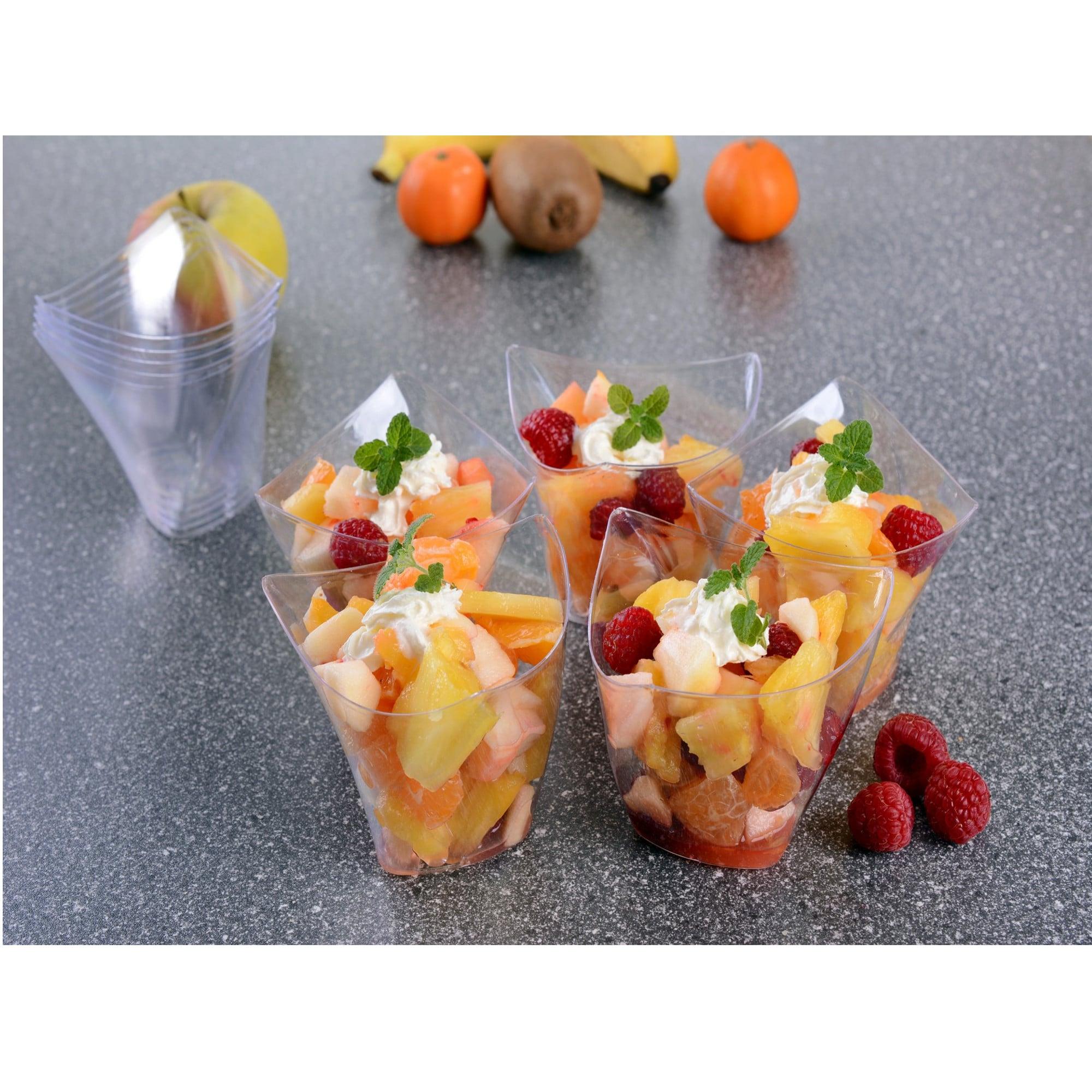 GRÄWE Einweg-Dessertschalen-Set klar 10-teilig