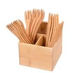 GRÄWE Bambus-Box mit 10-teiligem Besteck natur 1