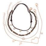Smart Jewel Armband Armbänder 4-teilig, Kristallsteine und Zirkonia, Silber 925