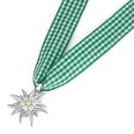 Gipfelzauber Kette Trachtenschmuck mit Edelweiss und Perlen