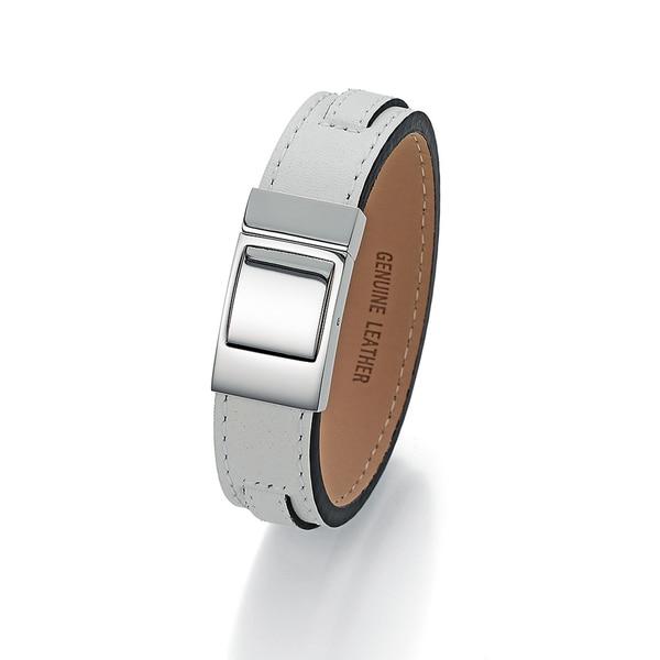 Jacques Charrel Armband Leder weiß
