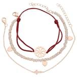 Smart Jewel Armband Armbänder 3-teilig, Kristallsteine und Zirkonia, Silber 925