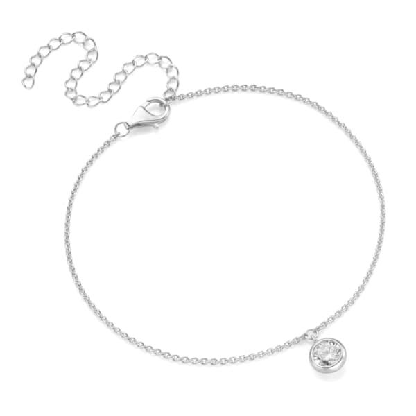 Smart Jewel Fusskette elegant mit Zirkonia rund