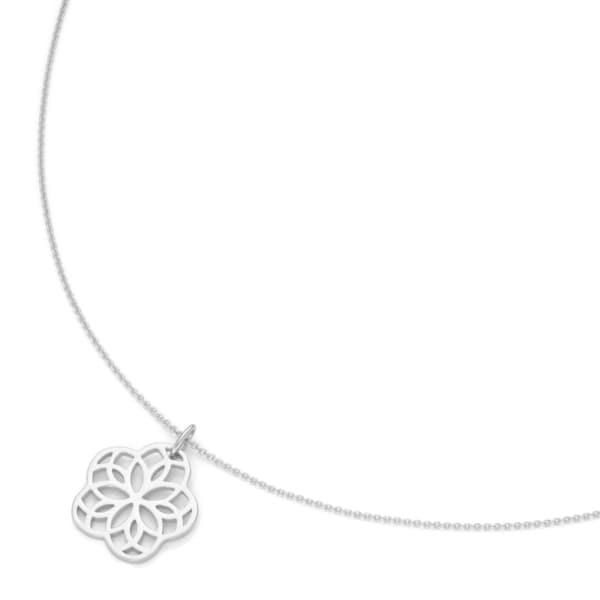 Smart Jewel Kette blütenförmiger Anhänger Sterling Silber 925