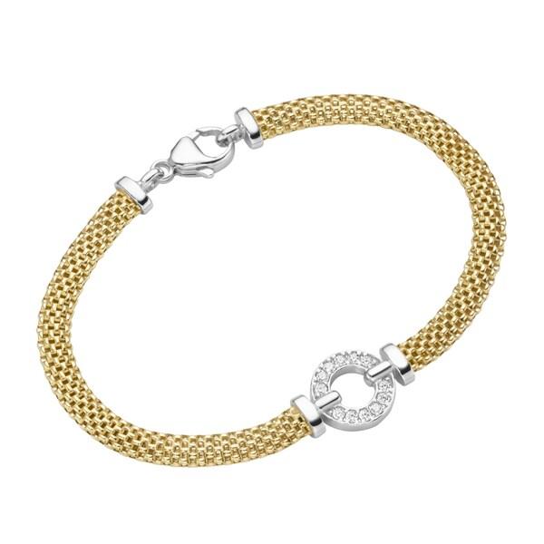 Smart Jewel Armband elegant mit Zirkonia, Silber 925