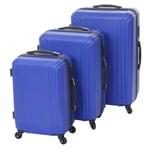 Mendler 3er Set Koffer HWC-D54a Höhe 72/60/50cm blau Standard