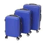 Mendler 3er Set Koffer HWC-D54a Höhe 72/60/50cm blau Premium