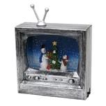 Sigro LED Fernseher mit Schneemannfamilie