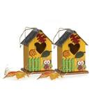 HTI-Living Vogelhaus 2er Set Eule
