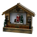 Sigro LED Haus mit Santa