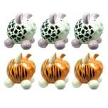 HTI-Living Sparschwein klein, 6 Stück 2 Tiermotive