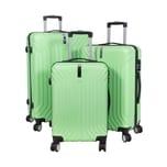 HTI-Living ABS Kofferset 3-teilig, grün Palma