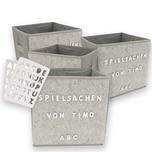 HTI-Line Aufbewahrungsbox Paloma 4er Set mit Buchstaben