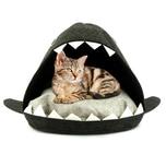 HTI-Living Katzenhaus mit Kissen aus Filz Haiform