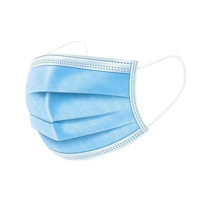 HTI-Living Einwegmund- und Nasenbedeckung 3-lagig 10er