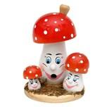 Sigro Holz Räucherpilzfamilie mit Gesicht
