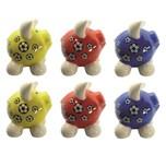HTI-Living Sparschwein klein, 6 Stück 3 Farben