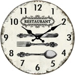 HTI-Line Wanduhr Restaurant