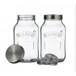 Kilner Fermentiergläser-Set, 2er Set à 1 Liter
