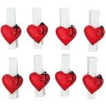 Rico Design Klammer Marienkäfer auf Herz 3,6cm 8 Stück