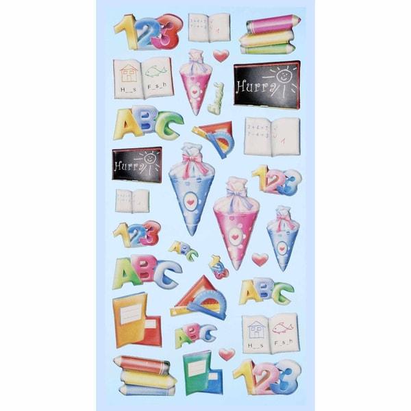 HobbyFun SoftySticker Schule 2 mehrfarbig 17,5x9cm
