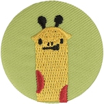 Jewellery Made by Me Button Giraffe 40mm