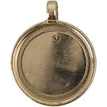 Jewellery Made by Me Anhänger für Buttons gold 32,5x25,5mm