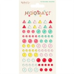 MyMindsEye Scrapbooking Hooray - Enamel Shapes