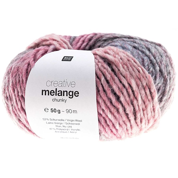Rico Design Creative Melange chunky 50g 90m rosa-blau
