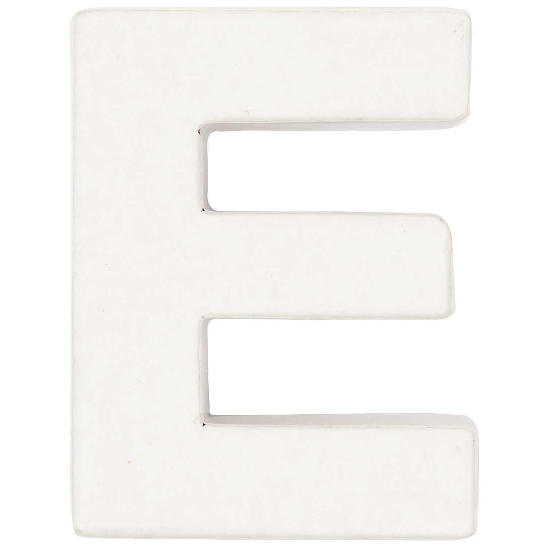 Rico Design 3D Pappbuchstaben weiß stehend E