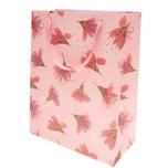 Paper Poetry Geschenktüte Blüten rosa 26x32x12cm