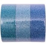 Rico Design Glitter Tape Set 1,5cm 5m blau Mix