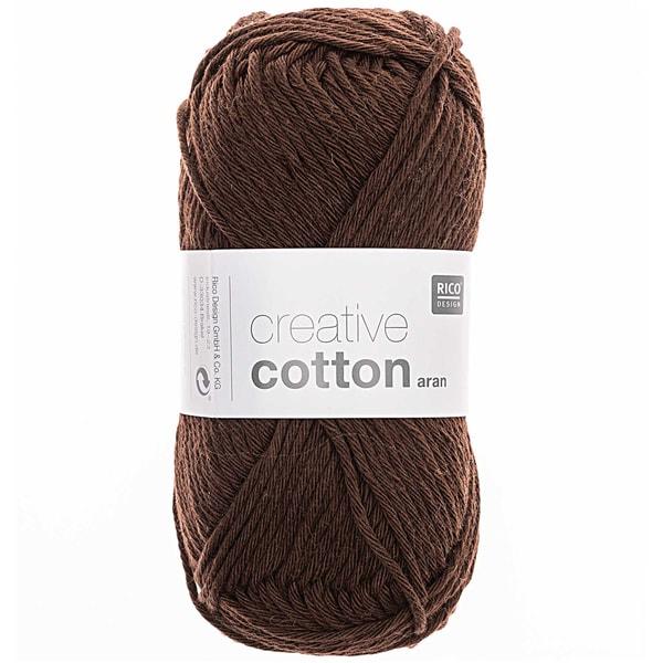 Rico Design Creative Cotton aran 50g 85m braun