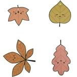Paper Poetry Papieranhänger Blätter bunt 8 Stück
