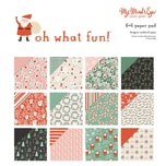 MyMindsEye Oh What Fun - Paper Pad 15,2x15,2cm