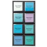 Paper Poetry Tusche-Stempelkissen Set 8 Farben aqua mix