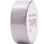 Paper Poetry Glitter Tape 1,5cm 5m silber