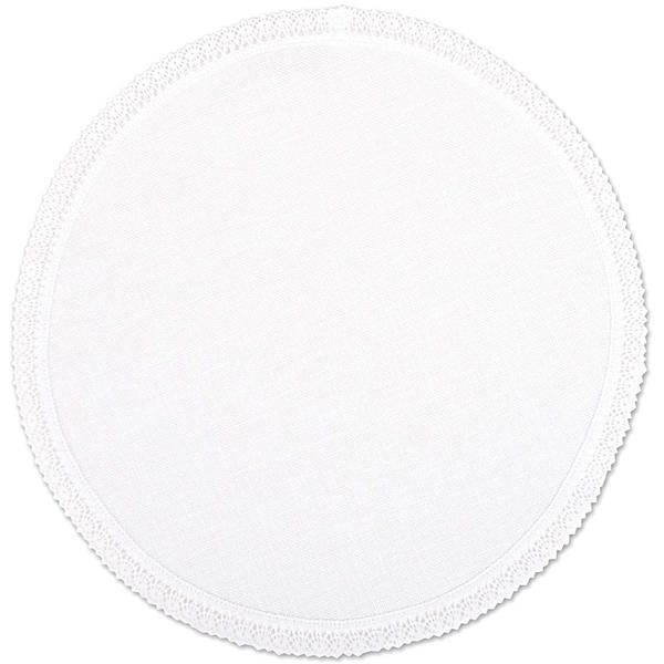 Rico Design Deckchen weiß mit Spitze 30cm