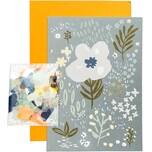 Paper Poetry Grußkartenset Crafted Nature blau