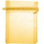 Beutel Organza 12,5x10cm 4 Stück gold