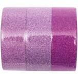 Rico Design Glitter Tape Set 1,5cm 5m pink mix