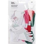 Paper Poetry Stickkarton Einhorn mit Garn und Nadel 8 Stück