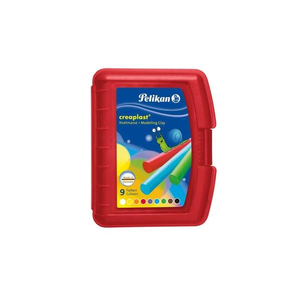 Pelikan Creaplast Knete rote Box 14 Stangen in 9 Farben