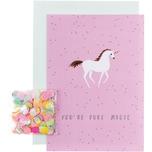 Paper Poetry Grußkartenset Wonderland Einhorn
